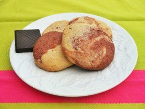 Biscuits marbrés au chocolat