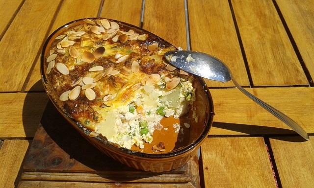 Clafoutis poisson pommes de terre petits pois